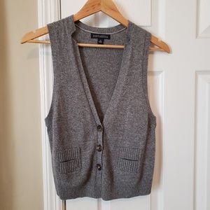 Banana Republic Gray Cashmere Blend Vest Ladies S